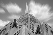 White Digital Art Posters - The Chrysler Building 2 Poster by Mike McGlothlen