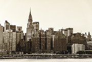 New York City Skyline Framed Prints - The Chrysler Building and New York City Skyline Framed Print by Vivienne Gucwa