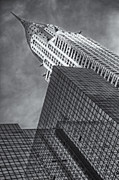 New York City Prints - The Chrysler Building BW Print by Susan Candelario