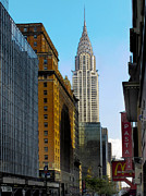 Chrysler Building Digital Art Metal Prints - The Chrysler Building Metal Print by Douglas J Fisher