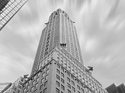 White Digital Art Posters - The Chrysler Building Poster by Mike McGlothlen