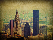 Midtown Digital Art Framed Prints - The Chrysler Framed Print by Nishanth Gopinathan