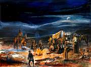 Western Paintings - The Chuck Wagon by Patrick Rahming