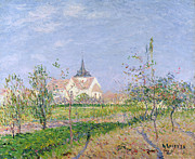 The Church Framed Prints - The Church at Vaudreuil Framed Print by Gustave Loiseau
