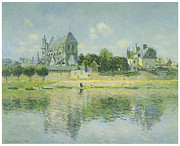 The Church Prints - The Church at Vernon Print by Claude Monet