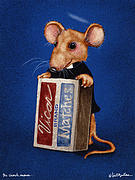 Mice Paintings - The Church Mouse... by Will Bullas