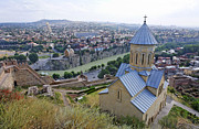 The Church Of St Nicolas Overlooking Tbilisi Georgia Print by Robert Preston