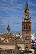 Pedro Posters - The Churches of Carmona Poster by Mary Machare