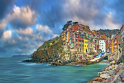 Cinque Terra Prints - The Cinque Terre - Riomaggiore in the Morning Print by Rob Greebon