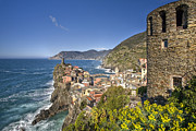 Cinque Terra Prints - The Cinque Terre - Vernazza from the Upper Castle Print by Rob Greebon
