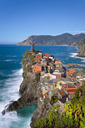 Cinque Terra Prints - The Cinque Terre  - Vernazza in the early afternoon Print by Rob Greebon
