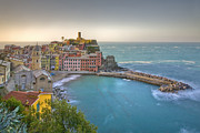 Cinque Terra Prints - The Cinque Terre - Vernazza Morning II Print by Rob Greebon