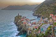 Cinque Terra Prints - The Cinque Terre - Vernazza Morning Looking North Print by Rob Greebon