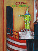 Amusement Parks Paintings - The Circus Fun House by Patricia Arroyo
