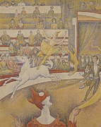 Crowd Painting Prints - The Circus Print by Georges Pierre Seurat