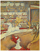 Tricks Framed Prints - The Circus Framed Print by Georges Seurat