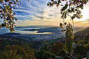 Pelion Framed Prints - The city Framed Print by George Leontaras