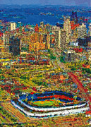 American League Painting Posters - The City Poster by John Farr