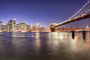 Tisdale Acrylic Prints - The City Lights of Manhattan Acrylic Print by Mark E Tisdale
