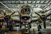 Greatest Generation Photo Prints - The City of Savannah B-17 Print by Bob and Nancy Kendrick
