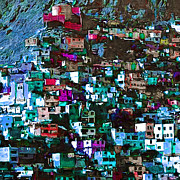 Hill Town Art - The City on The HIll v1p168 square by Wingsdomain Art and Photography