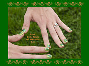 Painted Nails Framed Prints - The Claddagh Ring on her 16th Bday Framed Print by LeeAnn McLaneGoetz McLaneGoetzStudioLLCcom