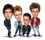 Punk Rock Music Posters - The Clash Poster by Art  