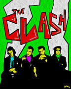 Rock Star Prints Framed Prints - The Clash Framed Print by Glenn Cotler