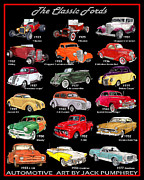 Jack Pumphrey - Ford Poster of Classic Fords