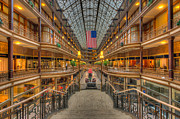 Flag Of Usa Prints - The Cleveland Arcade V Print by Clarence Holmes