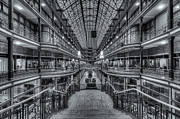 Flag Of Usa Prints - The Cleveland Arcade VI Print by Clarence Holmes