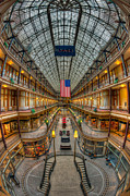 Flag Of Usa Prints - The Cleveland Arcade VII Print by Clarence Holmes