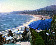 The Hills Mixed Media Posters - The Cliff Laguna Beach Poster by Glenn McNary