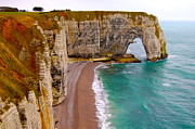 Creuse Framed Prints - The Cliffs of Etretat Framed Print by Ewerton Watanabe