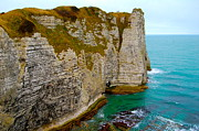 Creuse Framed Prints - The Cliffs of Etretat in France Framed Print by Ewerton Watanabe
