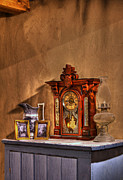 Oil Lamp Prints - The Clock Print by Ron Pniewski