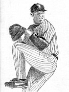 Mariano Rivera Drawings - The Closer by Al Intindola