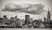 New York City Skyline Art - The Cloud BW by JC Findley