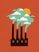 The Cloud Factory Print by Budi Satria Kwan
