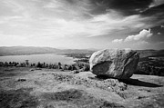 Finn Prints - The cloughmore stone looking down on Carlingford Lough Print by Joe Fox
