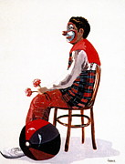 Circus. Paintings - The Clown  by Joyce Gebauer
