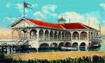 Santiago Cuba Prints - The Club Nautico In Santiago Cuba In 1910 Print by Dwight Goss