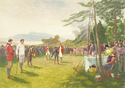Golfer Paintings - The Clubs the Thing by Henry Sandham