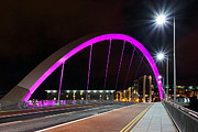 Glasgow Scotland Cityscape Framed Prints - The Clyde arc bridge Framed Print by Grant Glendinning