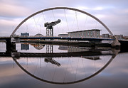 Glasgow Cityscape Framed Prints - The Clyde Arc Framed Print by Grant Glendinning