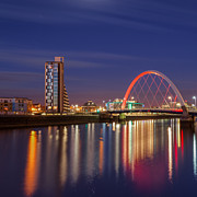Images Of Night Posters - The Clyde Arc  Poster by John Farnan