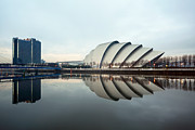 Glasgow Scotland Cityscape Framed Prints - The Clyde Armadillo  Framed Print by Grant Glendinning