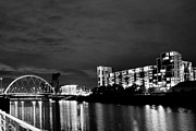 The Clyde Glasgow Prints - The Clyde at Night 2  Print by Serendipity Bay