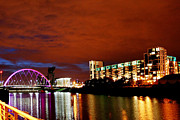 The Clyde Glasgow Prints - The Clyde at Night Print by Serendipity Bay