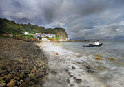 Roy Mcpeak Metal Prints - The Coastal Hamlet Metal Print by Roy McPeak